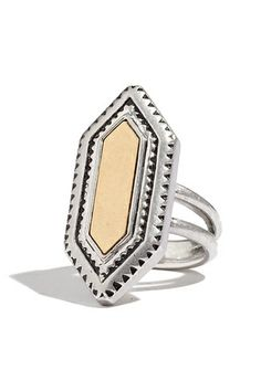 11 subtly stunning rings: modern geometry ring by madewell.