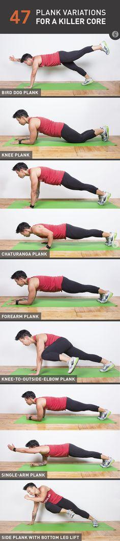planks, fit, bodi, killer core, healthi, exercis, plank variations, move, motiv