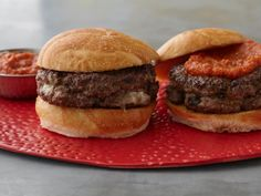 Your family will be pleasantly surprised when you serve them a seemingly ordinary burger and they bite into a gooey, cheesy center. Try Guy's Best-Ever Inside-Out Burgers. #RecipeOfTheDay