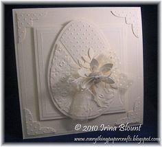white on white easter egg card - bjl