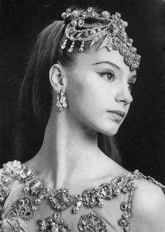 """Suzanne Farrell costumed for """"Diamonds"""""""