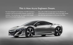 The forthcoming Acura NSX.  YES, PLEASE.