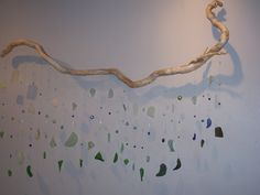WAVE  beaded sea glass and driftwood mobile by thetinkerswagon, $700.00