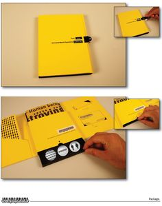 Nice packaging for a direct mail piece. Lots of hidden surprises through interaction.