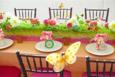 birthday, butterflies, centerpiec, garden parti, parties