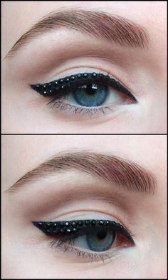 studded eye liner