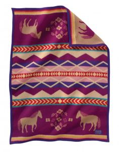 Gorgeous wool Painted Pony Crib Blanket by Pendleton