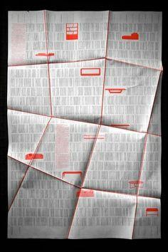 Unconventional folded Domison poster