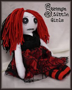 Strange Little Girl #Goth dolls from Jo Hard