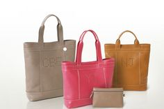 bag from Longchamp with personalized initials