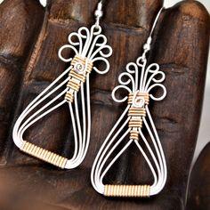 Wirewrap TUTORIAL.  Egyptian Earrings.   by Untwistedsister