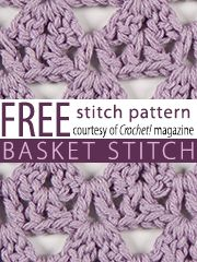 free basket, stitch crochet, crochet stitches, basket stitch, crochet pattern, stitch patterns