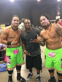 Jon  Josh Fatu (The Usos)  Indianapolis Colts running back Trent Richardson, who is married to their cousin Sevina Fatu.