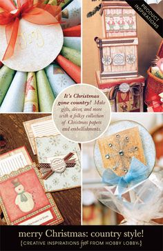 HobbyLobby Projects - Merry Christmas: Country Style!