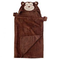 Monkey Hooded Towel