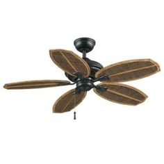 Hampton Bay Palm Beach II 48 in. Outdoor Natural Iron Ceiling Fan-59299 at The Home Depot