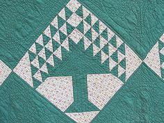 Tree of Life quilt handmad, quilt block, quilts, trees, life quilt, handmad green, tree of life, antiques, antiqu tree