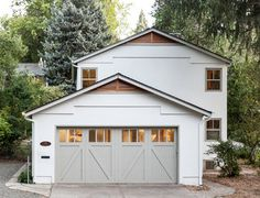 Gray Garage Doors Design Ideas, Pictures, Remodel and Decor