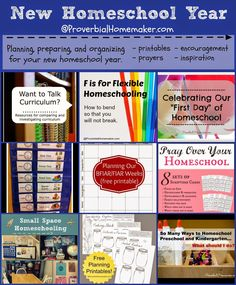Planning for the New Homeschool Year - organization, prayers, plans, inspiration!  by ProverbialHomemaker.com #homeschool