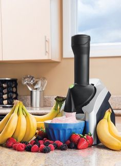 50 Useful Kitchen Gadgets You Didn't Know Existed - this turns frozen fruit into soft serve! Need to get one of these for the summer.