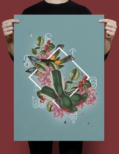 Collage Poster by Willian Santiago, via Behance