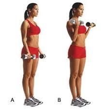 10 minute/10 moves killer arm workout on Tone-and-Tighten.com tone arm, arm exercises, fitness workouts, bicep curl, toned arms, health, bride arm workout, dress workout, arm workouts