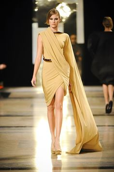 look at how beautiful the draping is, with the added and unexpected edge of the metallic...incredible.  (rolland HC 2011)