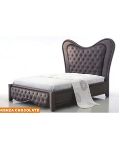 Aef Kenza Contemporary Style Chocolate Tufted Button Platform Bed