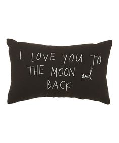 Black 'To the Moon and Back' Pillow