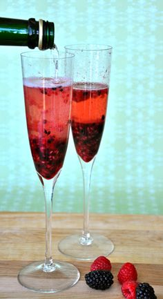 Berry Infused Champagne Cocktail