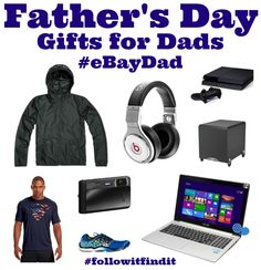 Father's Day Gifts for Dads #eBayDad #followitfindit