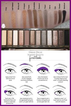 urban decay naked2 palette eyeshadow tutorial
