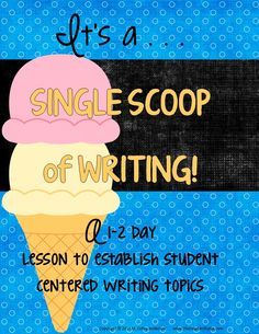 This exploration is a great way for 2nd through 5th grade students to kick of the school year understanding WHY we write, what good writing can be, and all the great topics out there to write about. It's perfect to start the year--but I use it midyear as well to keep adding new ideas to their topic lists. Check out the preview for more details! Includes student materials and interactive notebook templates, all directions, photographs of the activity in action, and more. $