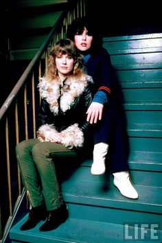 """One of the best bands ever and best  live performances for my money! :$ Thanks TTT. :)  Nancy and Ann Wilson by David Mcgough for LIFE, 1982  """"For Ann and me, it was always more about imitating guys, like Zeppelin and the Stones. Ann's singing is much more about Robert Plant and Elton John, for example, than it is about Aretha or Janis.""""—Nancy Wilson"""