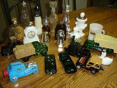 Lot of 21 Vintage Avon Cologne Bottles Barber Mug Lighthouse Cars Swan | eBay