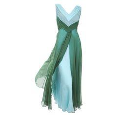 Valentino chiffon dress found on Polyvore...love the colors