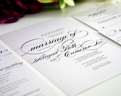 Angled View, Marriage Wedding Invitation Collection