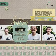 PageMaps...love this boy scrapbook layout!