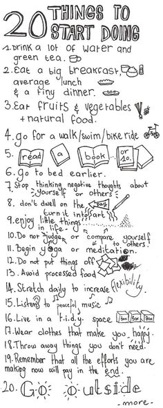 20 things to start d