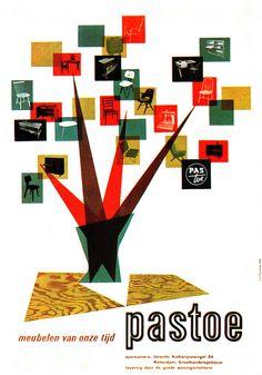 Otto Treumann Illustration 3 | Exhibition poster from Gebrauchsgraphik No. 1, 1955.
