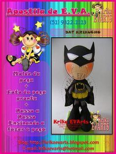 Moldes: Fofucho Batman