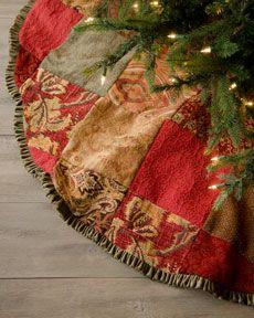 Patchwork Christmas tree skirt...
