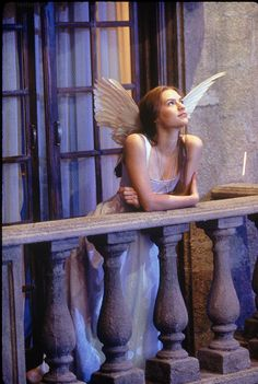 """Love the real feather wings in the Baz version - Claire Danes, """"Romeo + Juliet"""" 1996"""