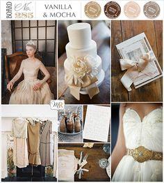 Vanilla & Mocha Inspiration Board