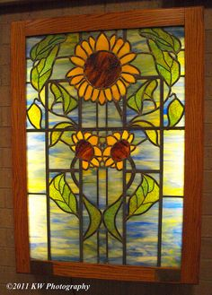 Sunflower Window... would love to have this in my kitchen <3