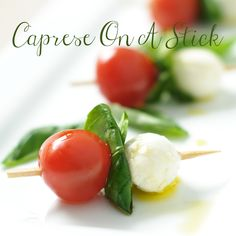Caprese On A Stick #caprese #saladonastick #basil #tomatoes #MyAllrecipes