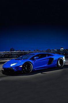 Chrome Blue Lamborghini Aventador by Marcel Lech