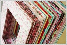 Fabric covered mats for pictures
