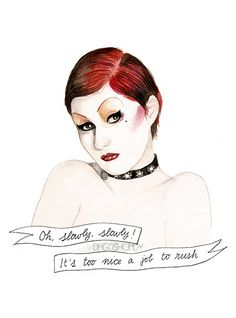 Columbia from the Rocky Horror Picture Show Nell by ohgoshCindy