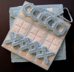 Tic Tac Toe Game - With Tote in Baby Colors